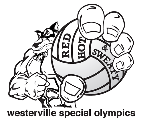 WSO Volleyball team Red, Hot & Sweaty new logo designed by athlete Andy Arnold.