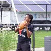 Ty showing off her skills at Football Camp hosted by Ohio Dominican University. 2018