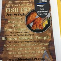 2018 Fish Fry Fundraiser hosted by the Blendon Masonic Temple