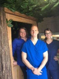 Dr. Joel and Staff in Treehouse