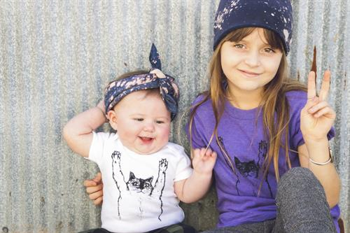 Megan Lee Designs Cat Onesie & Cat Kids T