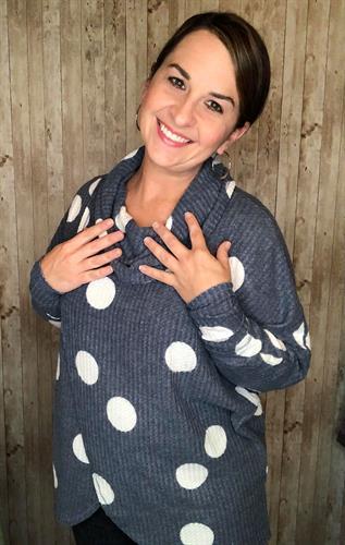 LuLaRoe Kristen cowl neck sweater