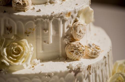 Custom Macarons for Wedding Cake Decor
