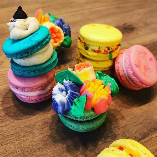 Variety of Macarons