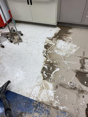 Classroom flooding at Case Western Reserve University
