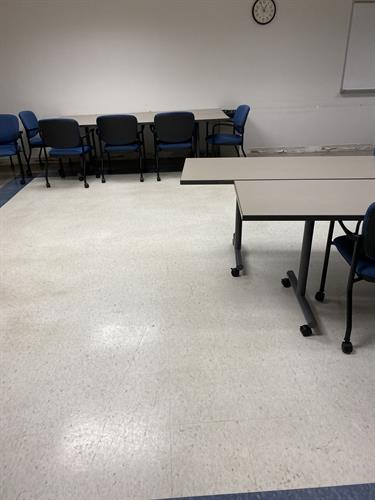 Classroom at Case Western Reserve University restored and cleaned