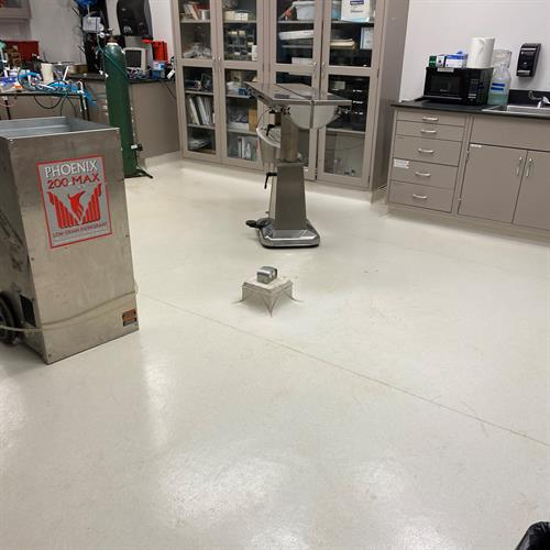 Lab classroom at Case Western Reserve University restored and cleaned