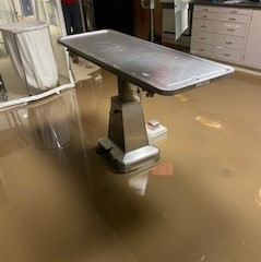Flooding in lab at Case Western Reserve University