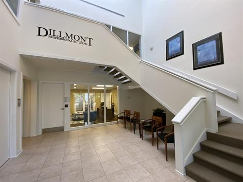 Foyer to our building at 131 Dillmont Drive