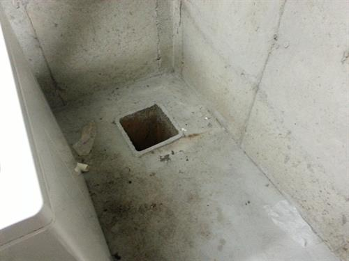 Open sump pit in basement can be a cause of mold
