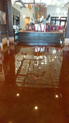 Stained Concrete with epoxy coating