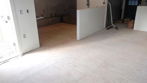 Commercial kitchen before Quartz Flooring
