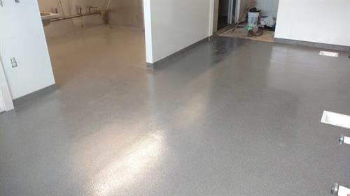 Commercial kitchen after Quartz Flooring