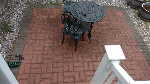 Dirty exterior pavers