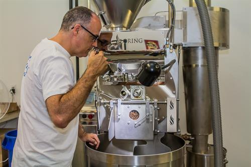 We roast all our coffee in small batches and use all of our senses to ensure quality.