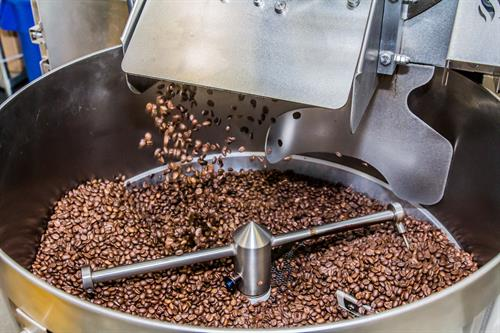 "More beans cooling in our Loring 15-kilo Smart Roast aka ""The Falcon"""