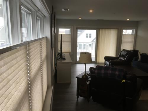 Vertical Cellular Shade @ Sliding Door