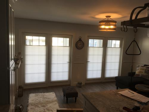 TDBU Cellular Shades on Doors