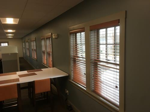 Wood Blinds-Office Setting
