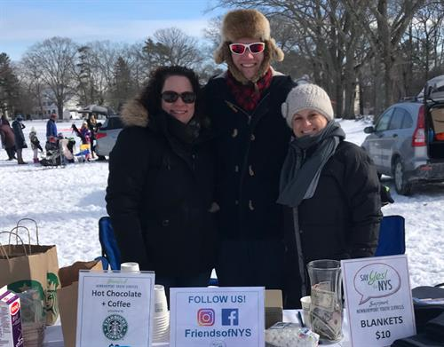 Serving hot chocolate at NYS' Winter Kite Festival 2019