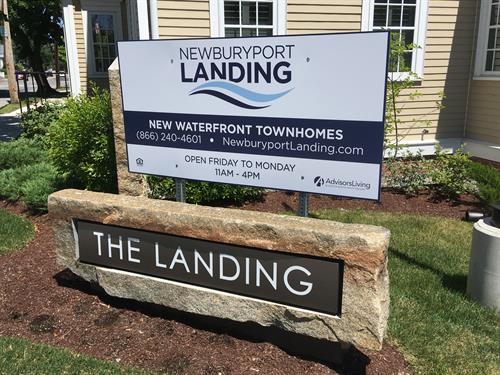 Newburyport Landing - Road Sign