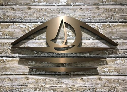 Watts Eye Associates - Brushed Bronze Dimensional Logo