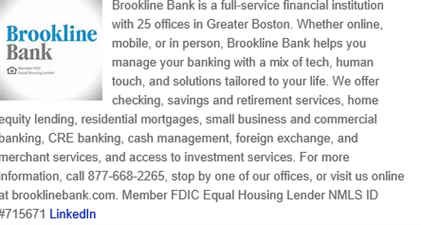 Brookline Bank