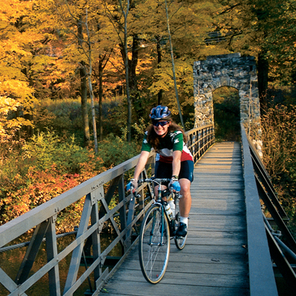 Autumn biking in New England