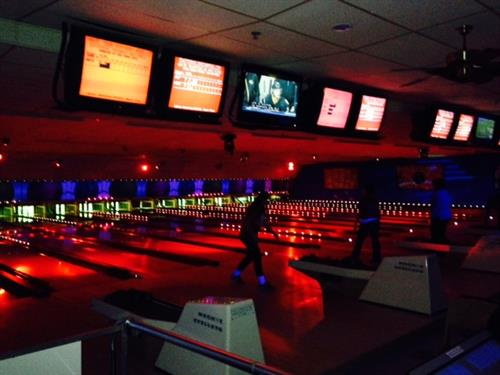 Cosmic Bowling!!  Every Friday night!  9:15 - 11 PM.