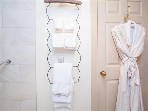 Luxurious bathrooms featuring Bulgari toiletries