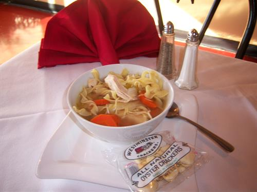 Our popular soups, chili and chowders are always available at the Cafe.