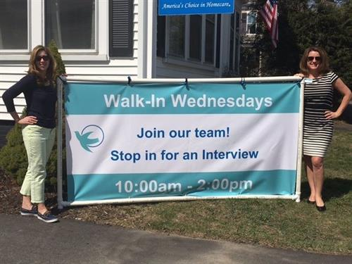 Walk-In Wednesday!  Come in and meet a hiring manager!