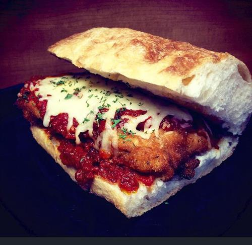 Chicken Parmesan on Ciabatta
