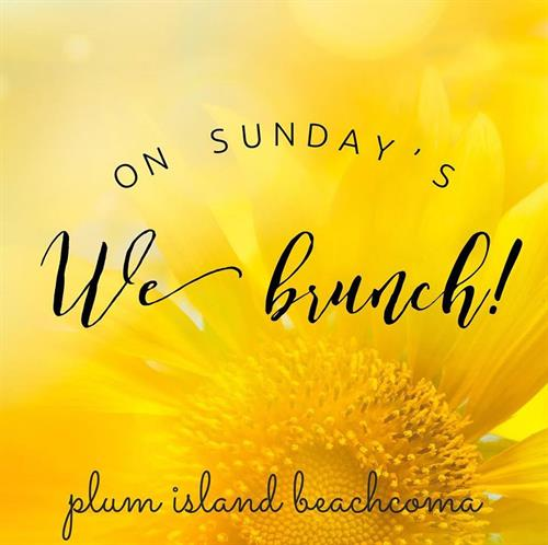 On Sunday's We Brunch! Enjoy a delicious Brunch Every Sunday from 10a-1p, at Plum Island Beachcoma, through the Winter Months