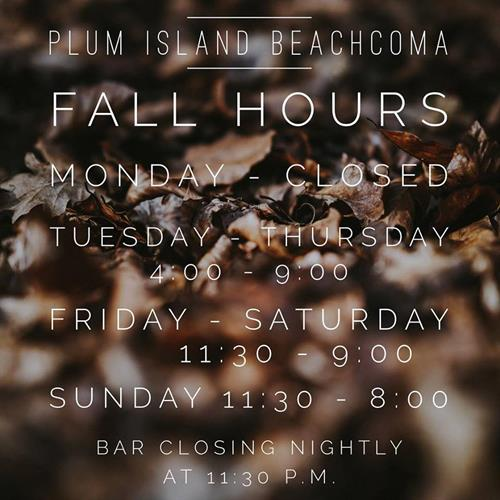 Yes! Plum Island Beachcoma is Open All Year Round! With the exception of Mondays! Visit us!