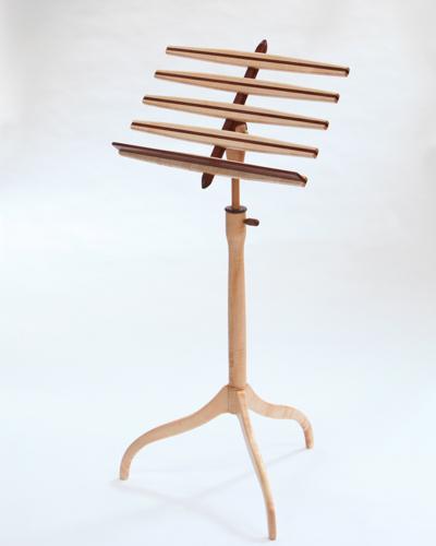 Music stand, bubinga and maple