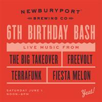 Newburyport Brewing Co. 6TH BIRTHDAY BASH Saturday 6/1!