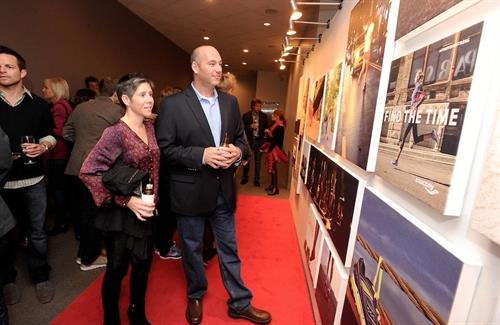 Our step and repeat red carpet is a custom art installation you bid on for charity