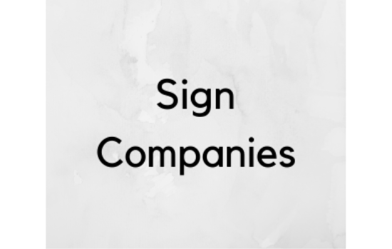 Sign Companies