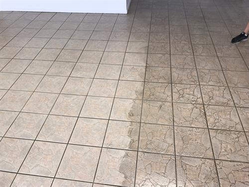 Tile and grout cleaning and restoration