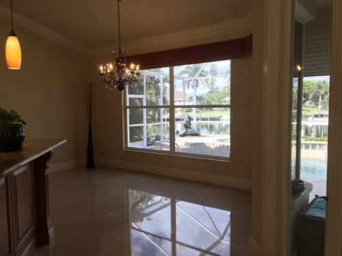 Dining room and every room in home except 2nd bedroom has a water view