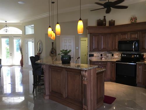 Custome kitchen with Quartz counter tops