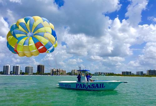 Parasailing provided by Estero Island Parasail