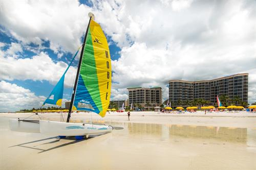 Sailing is available at all three locations on Fort Myers Beach