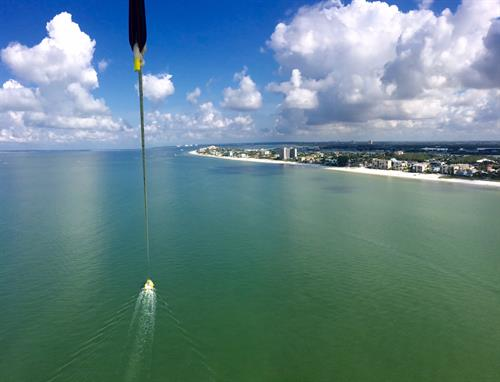 Views from 1200 feet of towline.