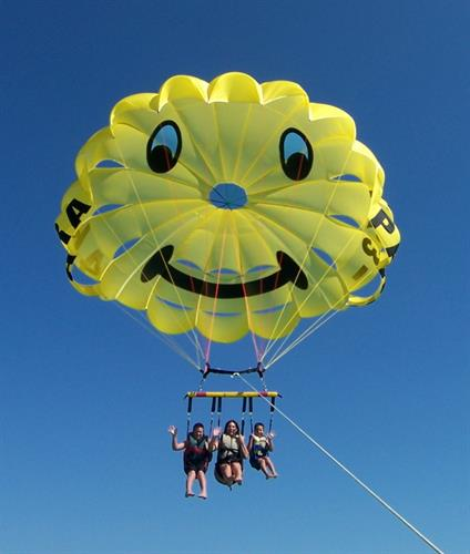 Fly Your Family in our Jumbo Smiley Chute