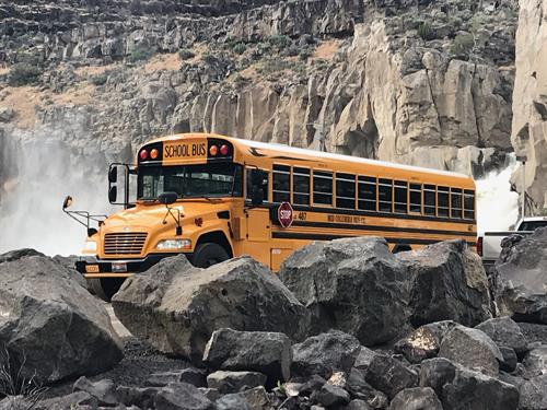 Charter a bus to visit the falls!