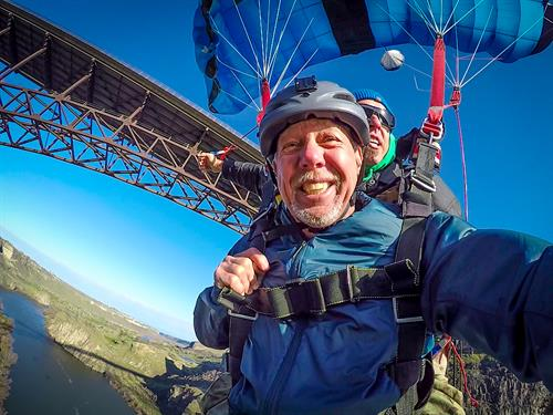 Go BASE jumping from the Perrine Bridge and fly through the Snake River Canyon