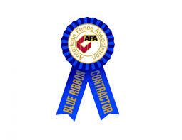 Jefcoat Fence Company was awarded the Blue Ribbon Contractor Award