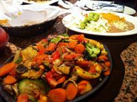 For the veggie lovers, we have veggetarian fajitas